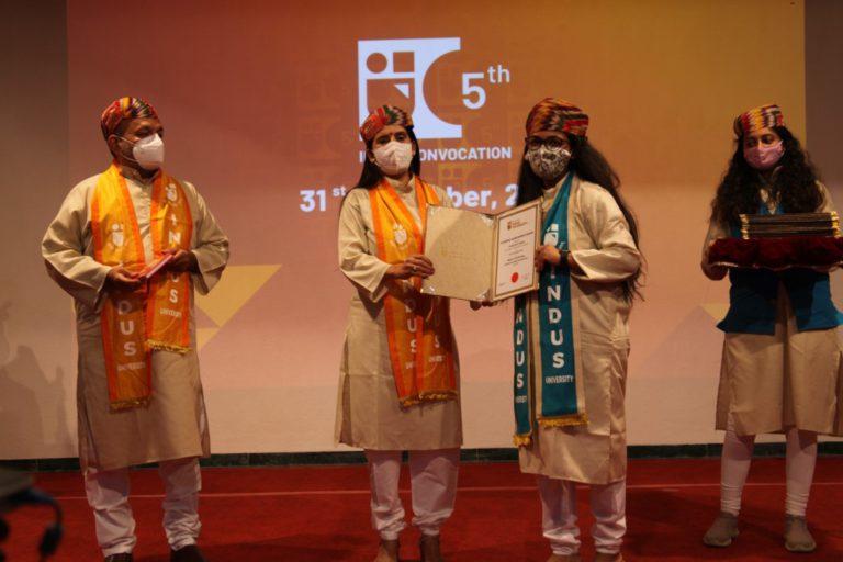5th Convocation Indus University - 31 December 2020 (244)