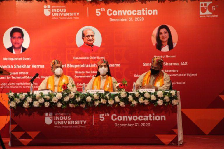 5th Convocation Indus University - 31 December 2020 (34)